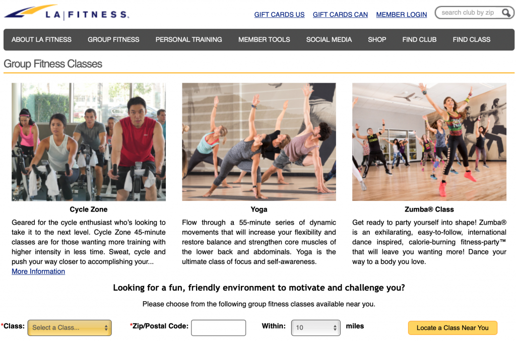 Yoga classes in Gyms